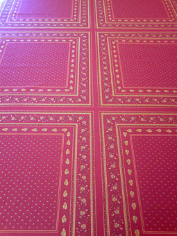 red provencal tablecloth