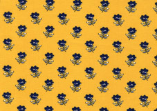 yellow and blue french coated cotton fabric for tablecloths