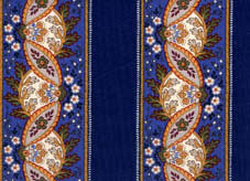 blue french plastic coated cotton fabric for tablecloth