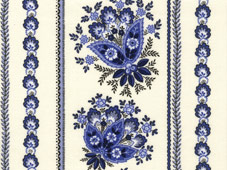 blue and white french coated fabric for tablecloths
