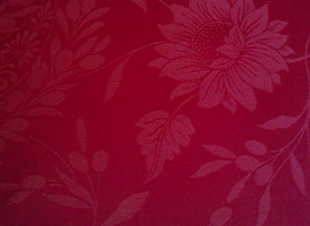 red jacquard fabric