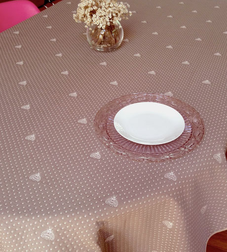 Bees design reversible pique quilted French tablecloth
