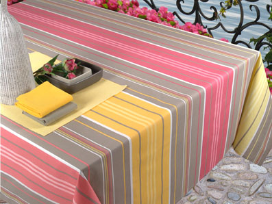 plastic coated basque design tablecloths