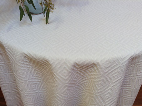 Round Boutis Quilted Tablecloth ...