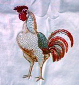 french tablecloth with roosters