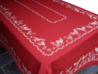 chook design tablecloth