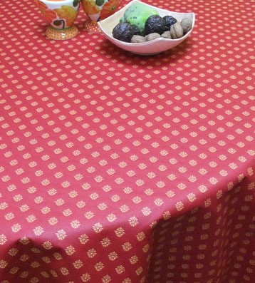 french coated Jacquard tablecloth