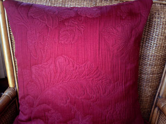 pique quilted cushion cover