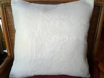 pique quilted cushion
