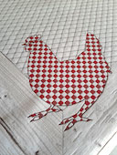check hen tablecloth