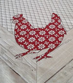 flower design hens tablecloth