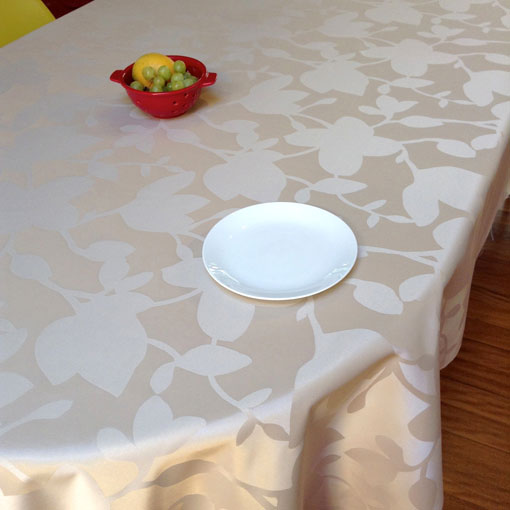 Teflon treated French Jacquard tablecloth