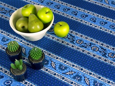 blue garden tablecloth