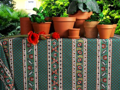 green garden tablecloth