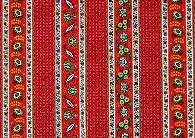 red garden tablecloth