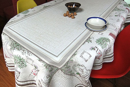 Luxury french provencal tablecloth.