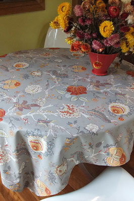 floral toile de jouy tablecloth