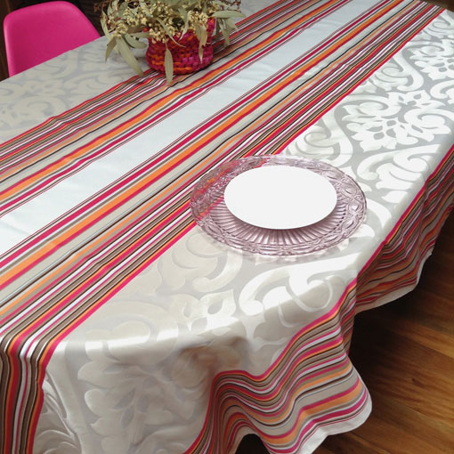 french Jacquard tablecloth with Teflon treatment