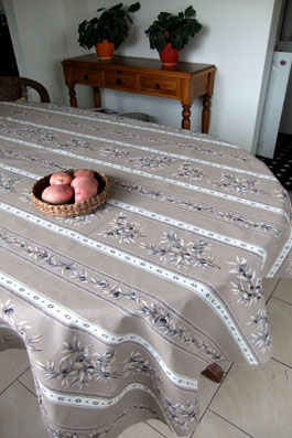 linen olive tablecloth