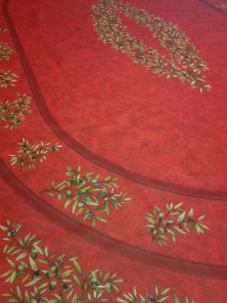 oval coated 8 seater tablecloth