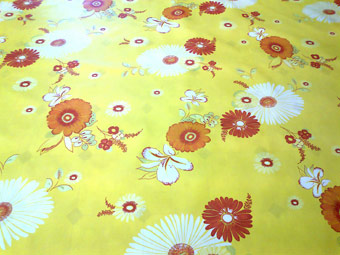 flower design oilcloth