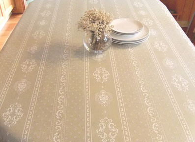 provencal oilcloth in linen colour