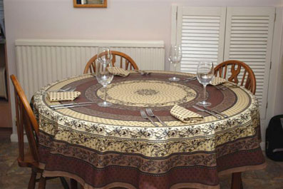 Cappuccino Colour Vinyl Round Tablecloth