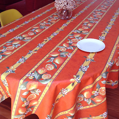 Lemon design plastic coated tablecloth from Provence