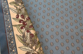 blue all-over provencal fabric