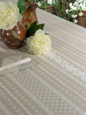 treated french tablecloth