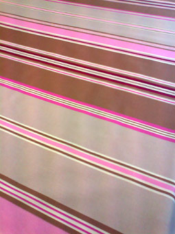 basque coated tablecloth pink