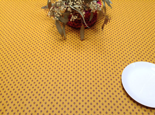 gold yellow provincial oilcloth
