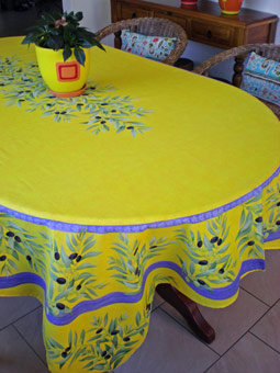 yellow provencal tablecloth