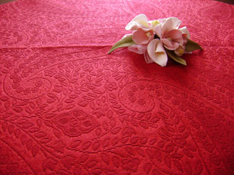 paisley design pique tablecloth