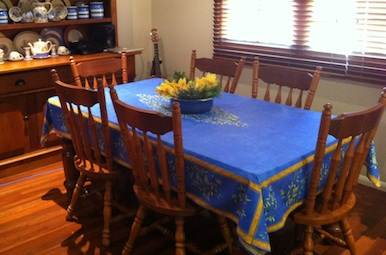 blue provencal tablecloth