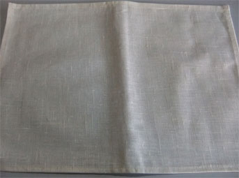 coated linen placemat