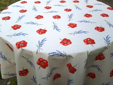 provincial french tablecloth with poppies design