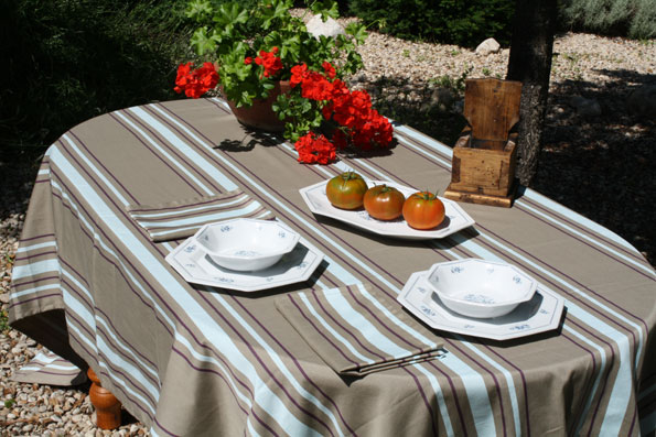 french jacquard treated tablecloth