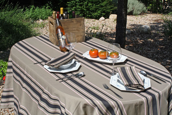 french treated Jacquard tablecloth