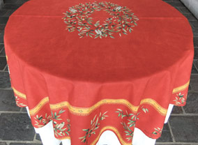 Paquita Red 60in Round Cotton Tablecloth. AU$66 Or US$55.45