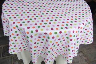 Polka Dots 60in Round Cotton Tablecloth. AU$66 Or US$55.45
