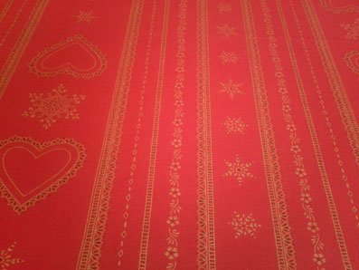 snow flakes holiday table cloth