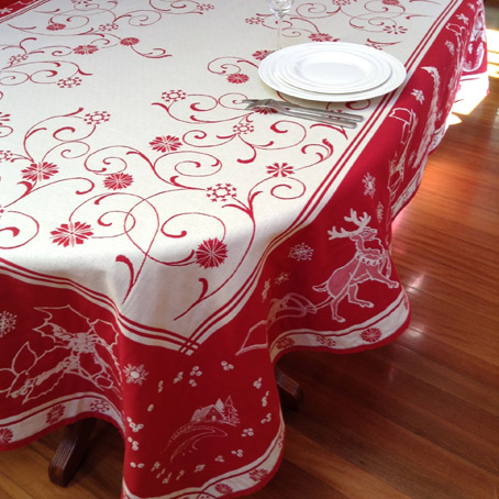 6 seater christmas tablecloth