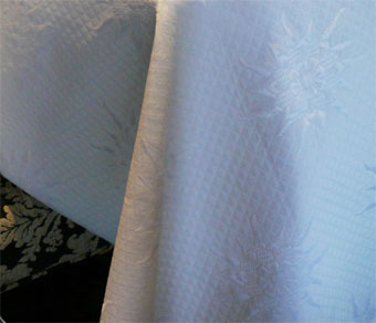 white pique quilted fabric