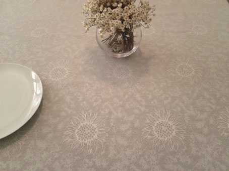 french jacquard tablecloth with sunflower