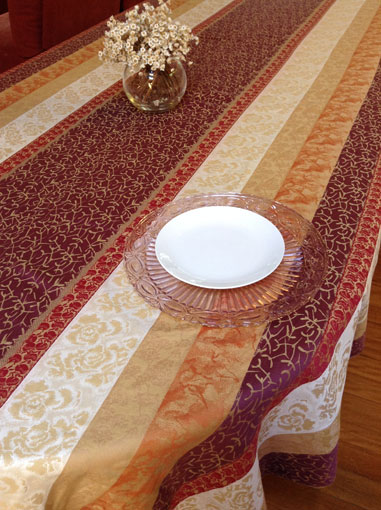 french Jacquard soft cotton tablecloth