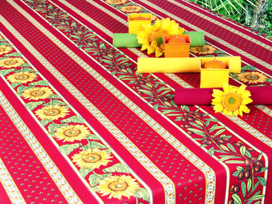 large outdoor treated tablecloth