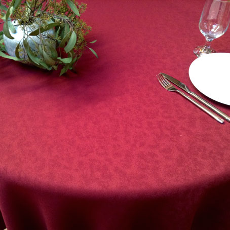 plain red Christmas tablecloth