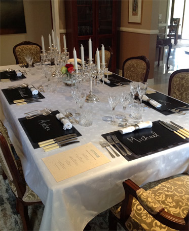 White French Jacquard Formal Dining Tablecloth From France