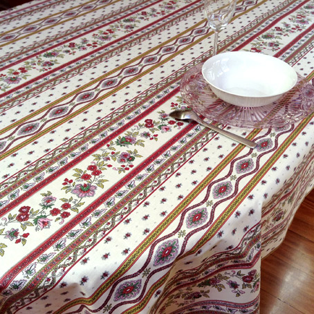 French Coated Tablecloth With Traditional Provencal Designs ...